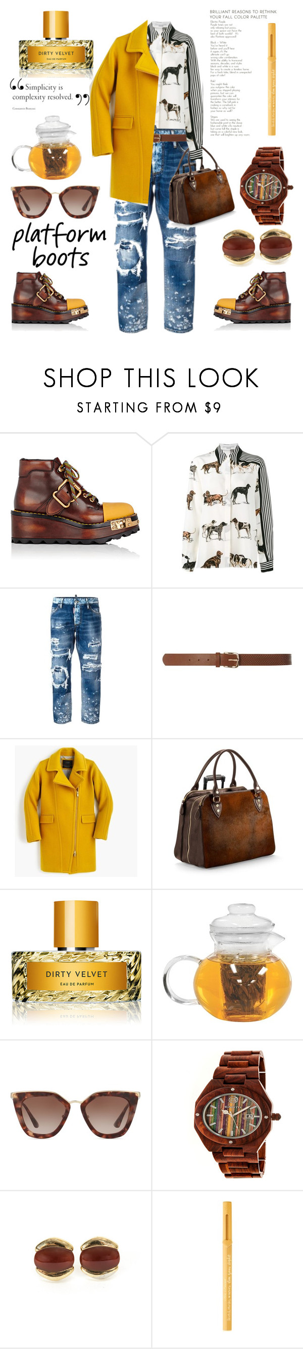 """Platform #500"" by meryflower ❤ liked on Polyvore featuring Prada, STELLA McCARTNEY, Dsquared2, Dorothy Perkins, J.Crew, Aspinal of London, Vilhelm Parfumerie, Primula, Earth and Kai-Yin Lo"