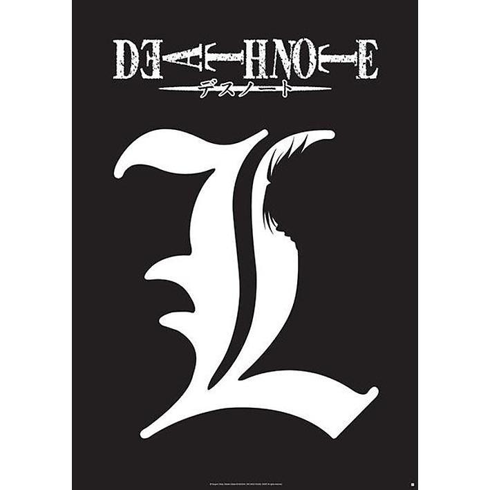 death note poster l symbol jetzt bei emp kaufen mehr fan merch poster online verf gbar. Black Bedroom Furniture Sets. Home Design Ideas