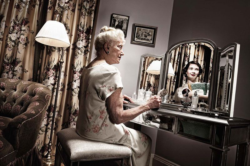Photos of Elderly People: Looking at their Younger