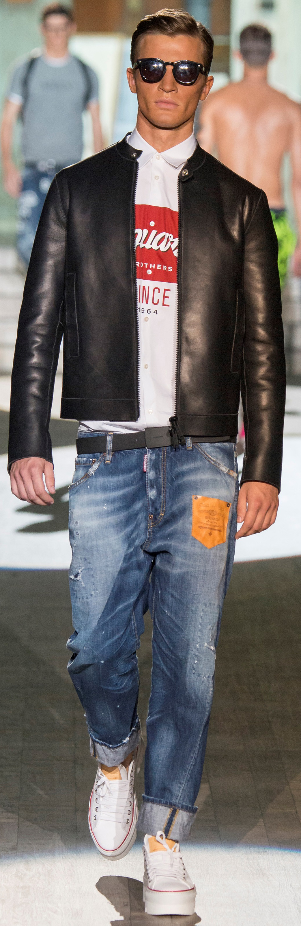 Leather jacket in summer - Micro Thin Black Leather Jacket By Dsquared2 Men S Spring Summer Fashion
