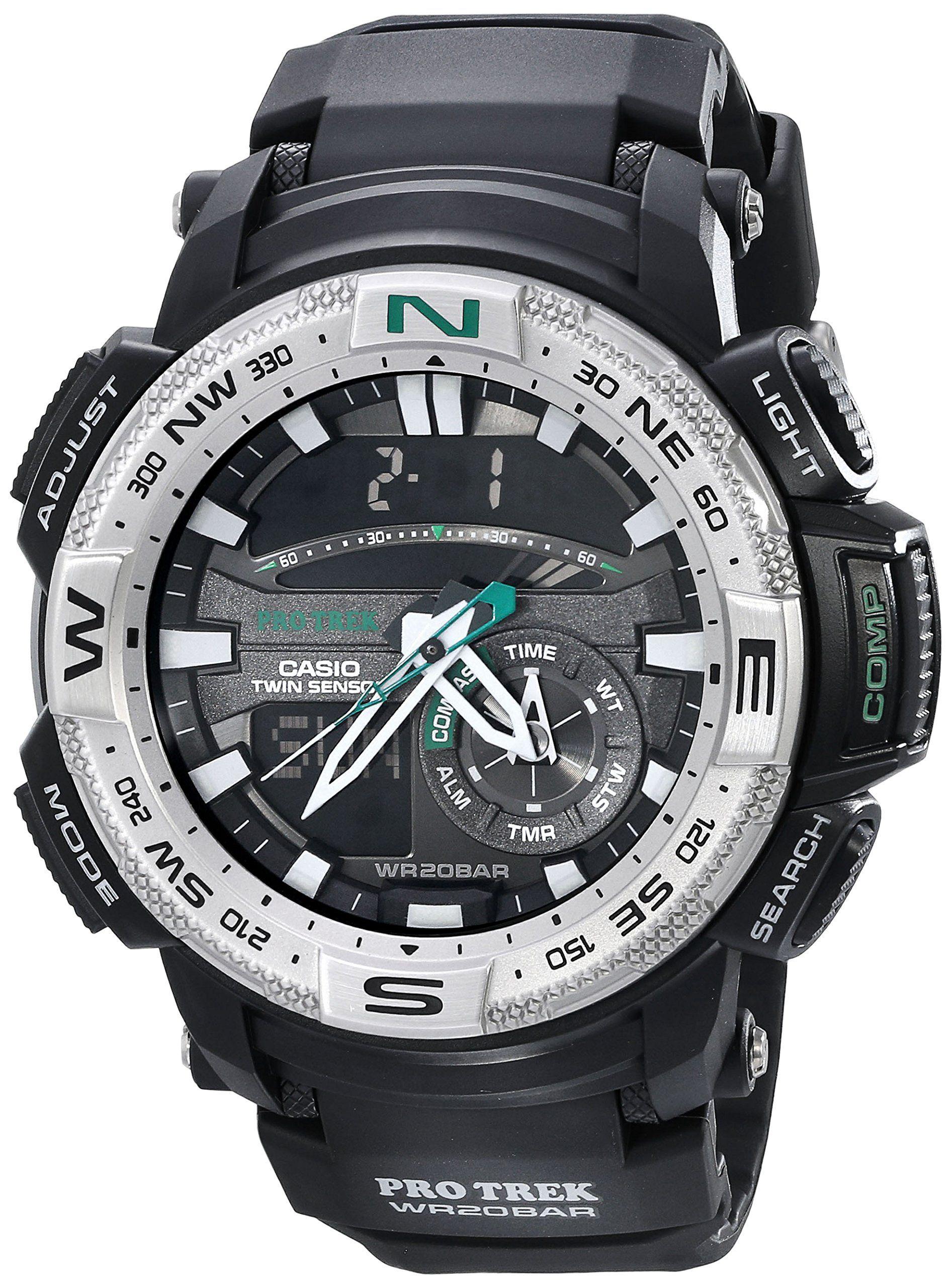 4c9fea281a41 Casio Men s PRG-280-1CR PRO TREK Analog-Digital Display Quartz Black Watch