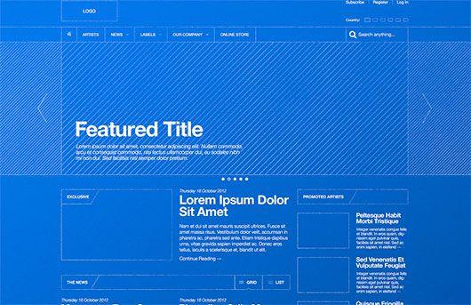 Blueprint / Wireframe by Derek Clark
