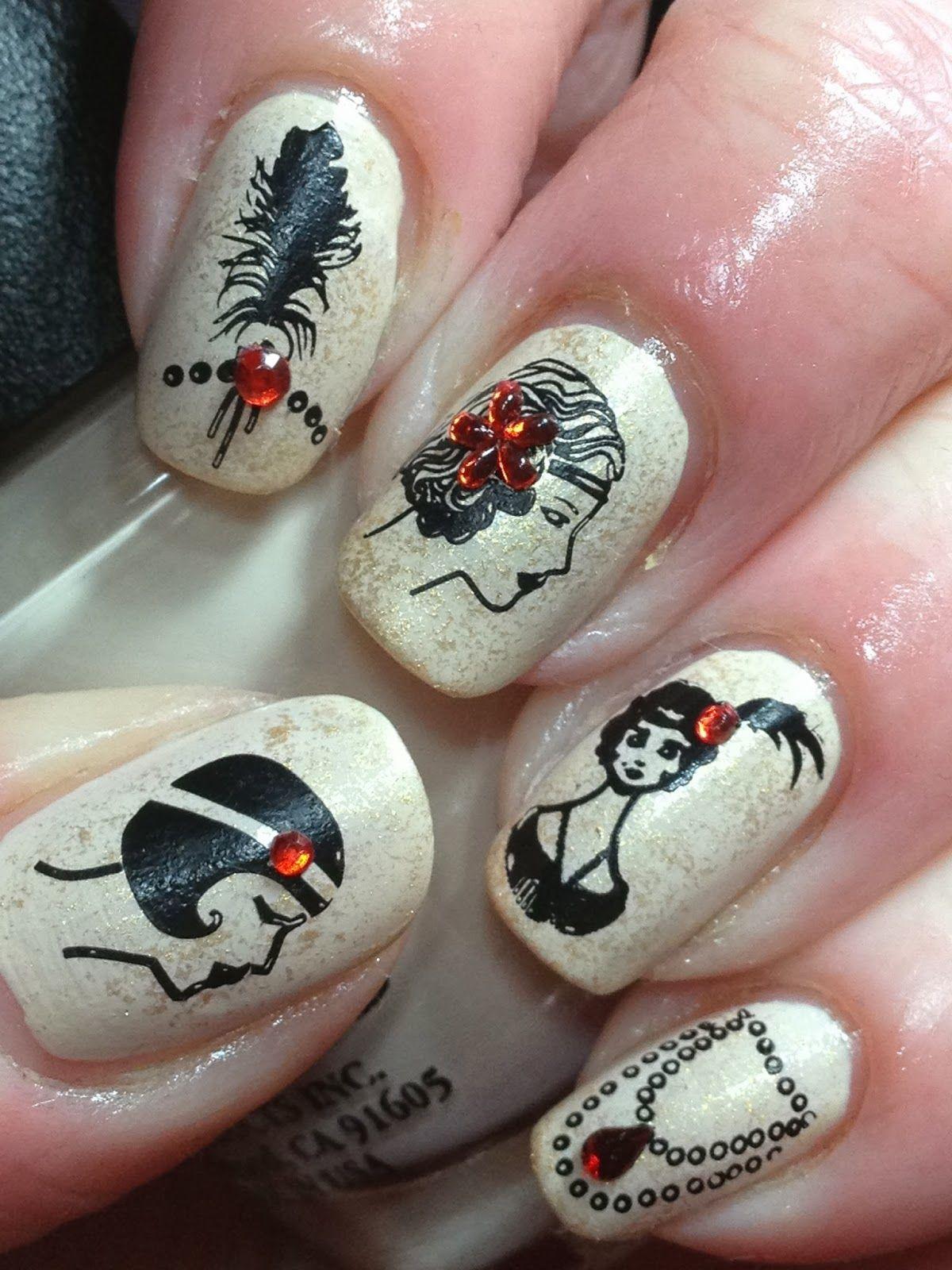 Nailsquenalbertini 1920s nail art designs nails n2 nailsquenalbertini 1920s nail art designs prinsesfo Images
