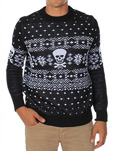 Men's Skulls and Cross Bones Fair Isle Christmas Sweater http ...