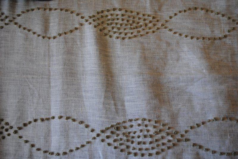 Tranquility Sage on Bleach 100% linen - 137cm