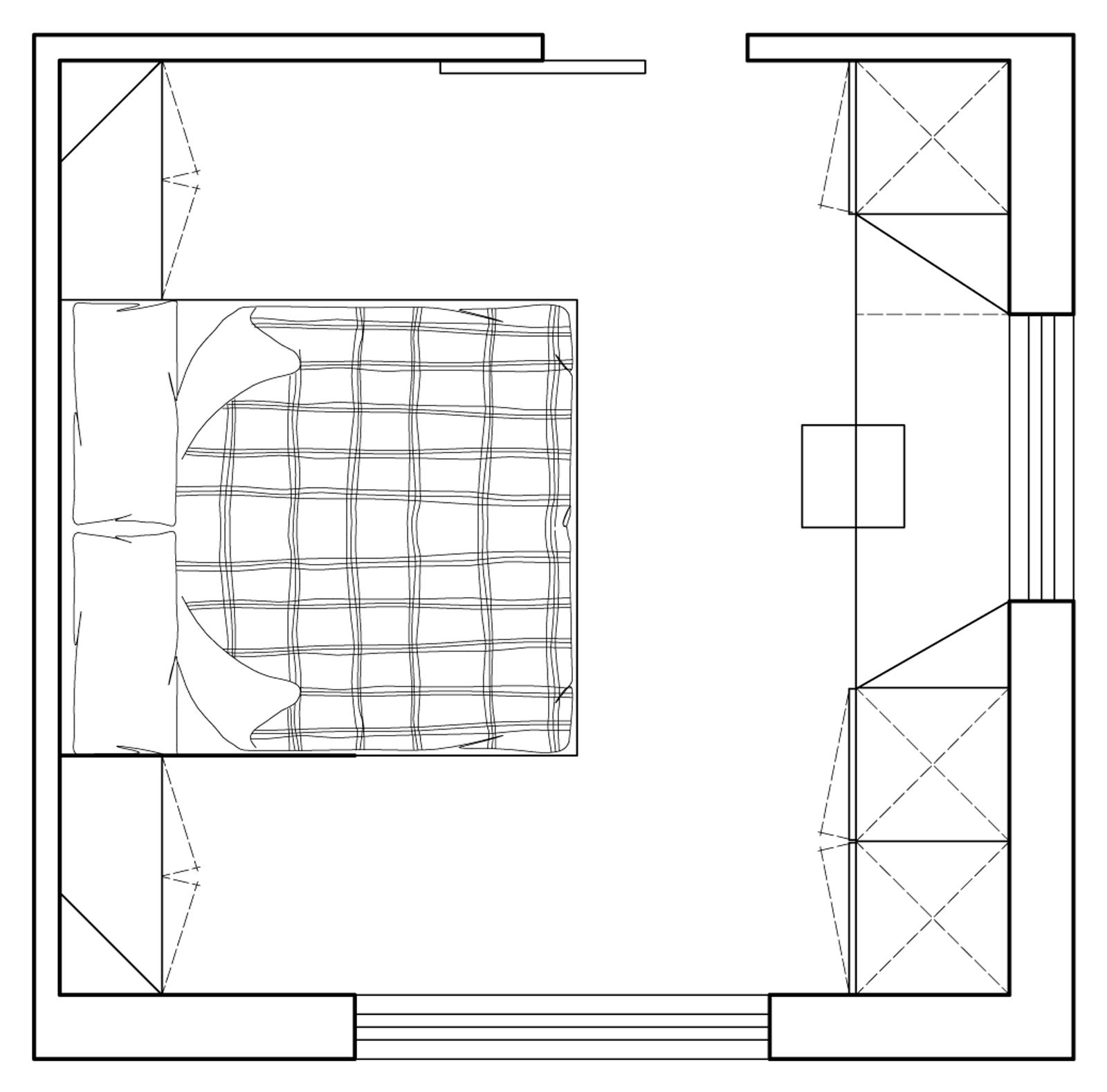 Camera matrimoniale piccola come la arredo cassettiera for Camera da letto matrimoniale molto piccola