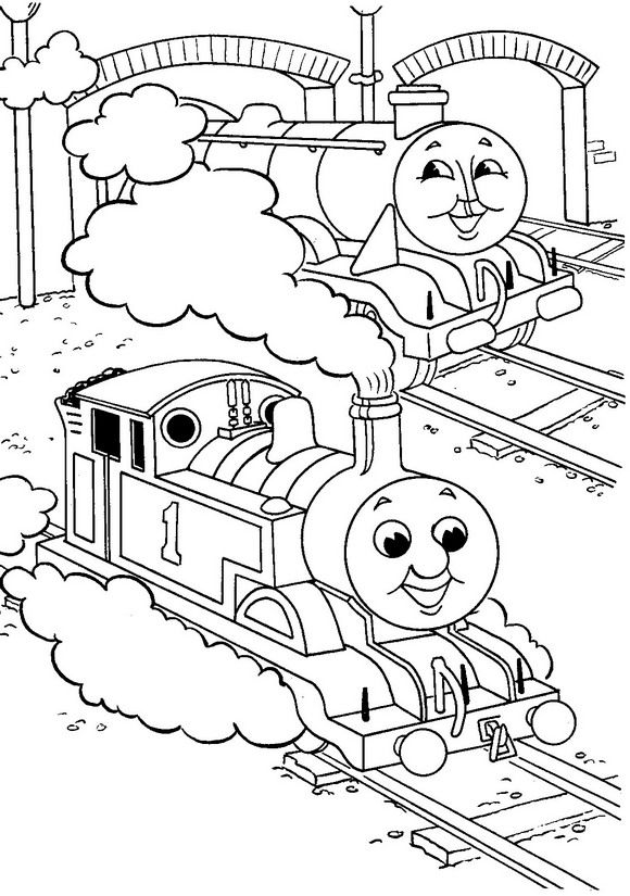 Kids N Fun Coloring Page Thomas The Train Thomas The Train Train Coloring Pages Free Coloring Pages Coloring Books