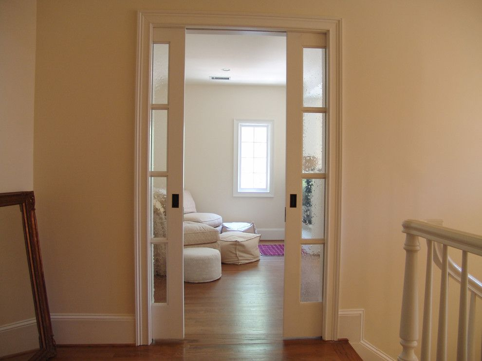 Double Pocket Door Bedroom Traditional With None Walker