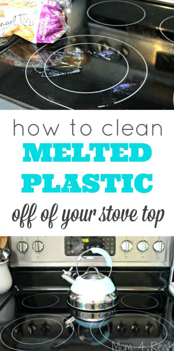 How To Clean Melted Plastic Off Of Your Stove Top Cleaning Hacks