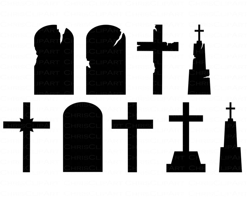 Tombstone Svg Bundle Blank Tombstone Png Headstone Clipart Etsy Halloween Clipart Clip Art Tombstone