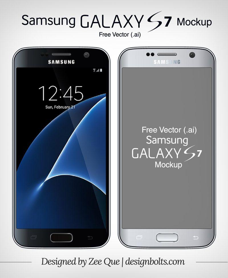 Free Vector Samsung Galaxy S7 S7 Edge Mock Up In Ai Format Samsung Samsung Galaxy S7 Galaxy S7