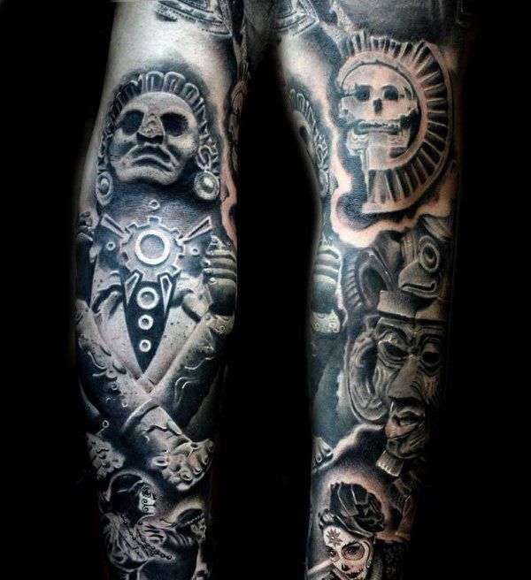Top 77 Aztec Tattoo Ideas 2020 Inspiration Guide With Images
