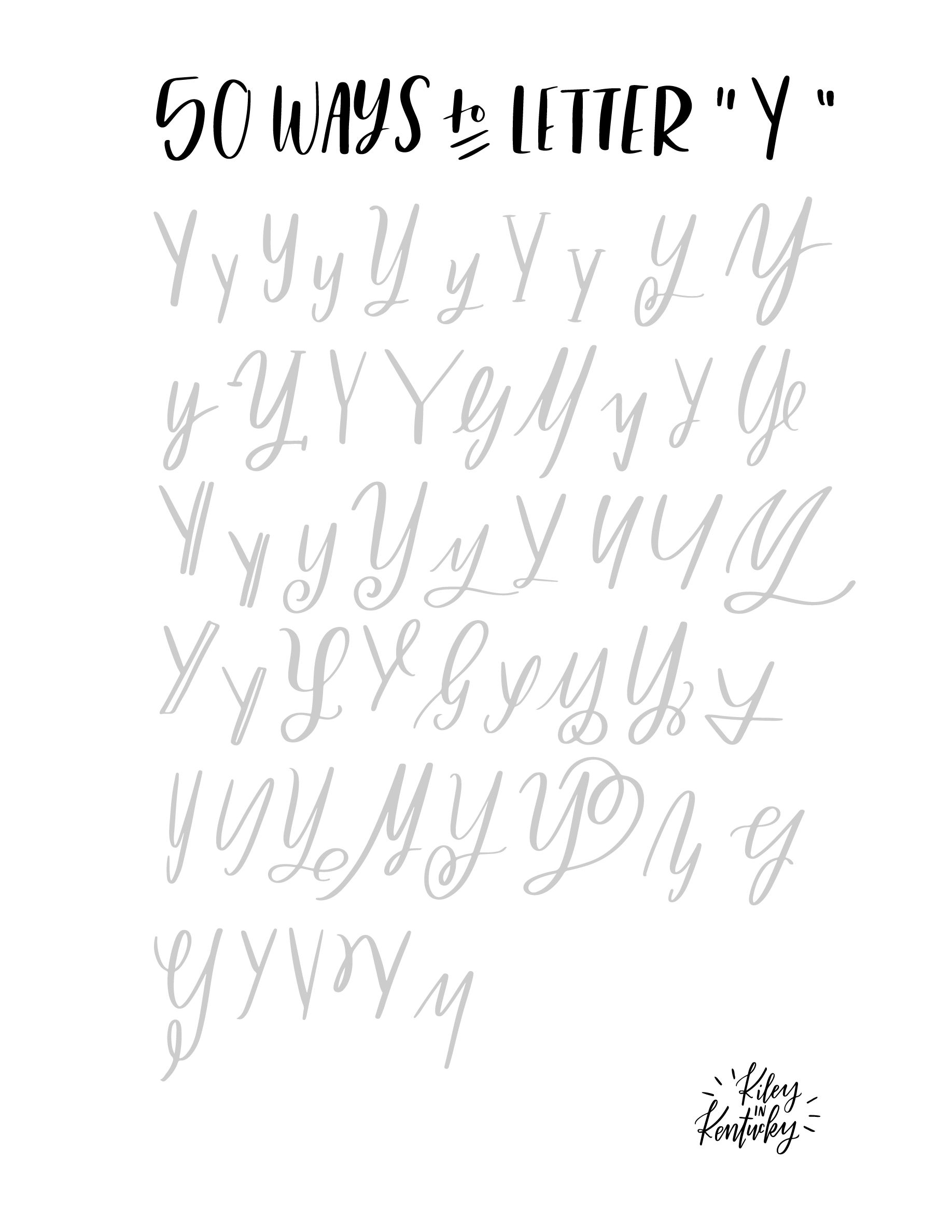 Pin By Irina Kevlich On 50 Ways To Write Letters