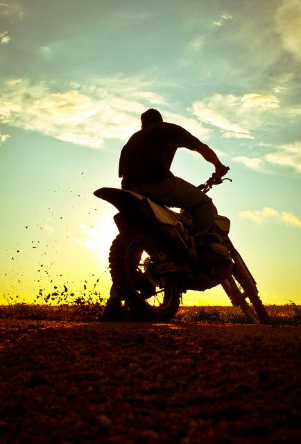 trail riding is a lot of fun, and relieves stress and .. kinda peaceful.  I hope i can own another bike some day:)