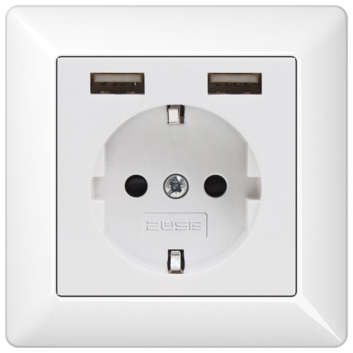 jung usb stopcontact met 2usb electra pinterest. Black Bedroom Furniture Sets. Home Design Ideas