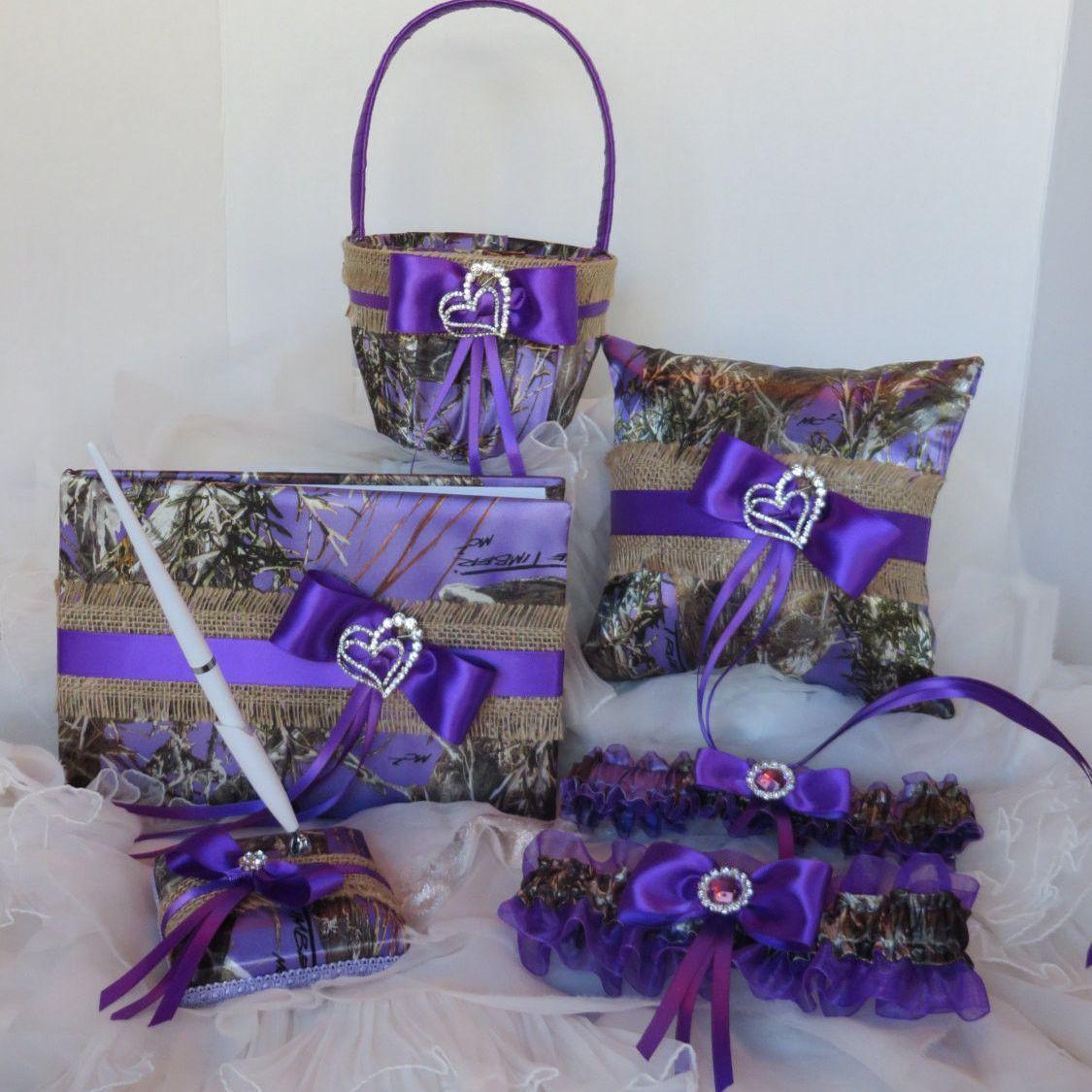 Purple camo wedding dresses  Purple Camo Wedding Set CamoWeddingIdeas  wedding  Pinterest