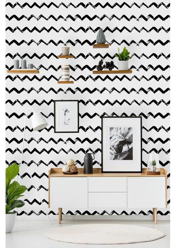 Barnstable Removable Chevrons 10 L X 25 W Peel And Stick Wallpaper Roll In 2020 Peel And Stick Wallpaper Wallpaper Roll Decor