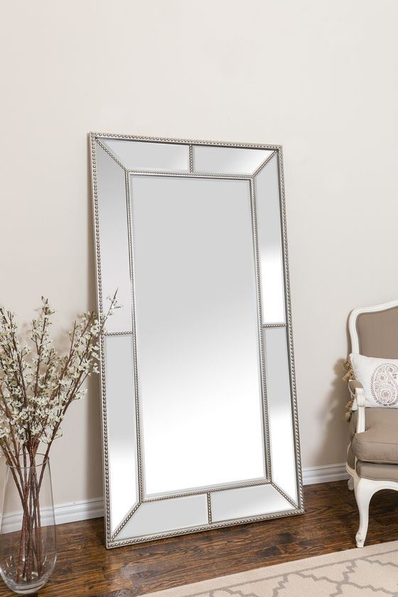 Roxeburghe Leaner Mirror Antique Silver Leaner Mirror Mirror Mirror Decor