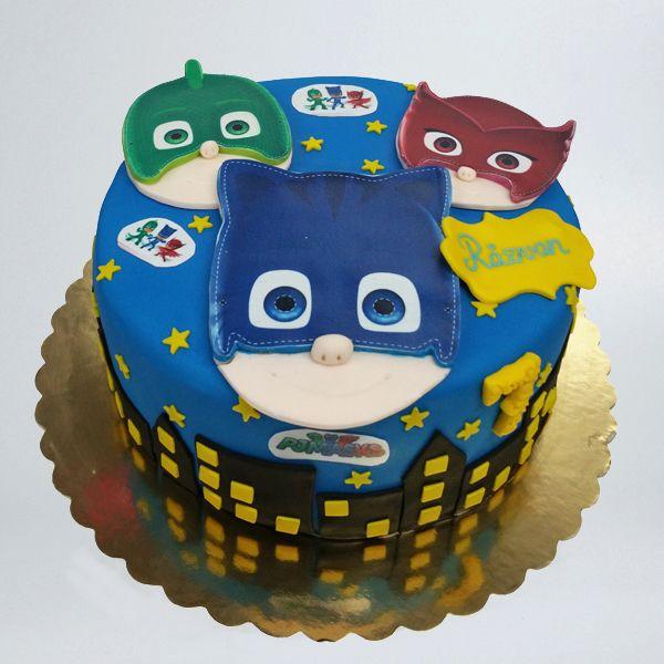 cel mai bun furnizor nou stil preț rezonabil tort-eroi-in-pijamale-2d   Cake, Birthday cake, Birthday