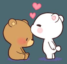 Bear Couple : Milk & Mocha sticker #12265851