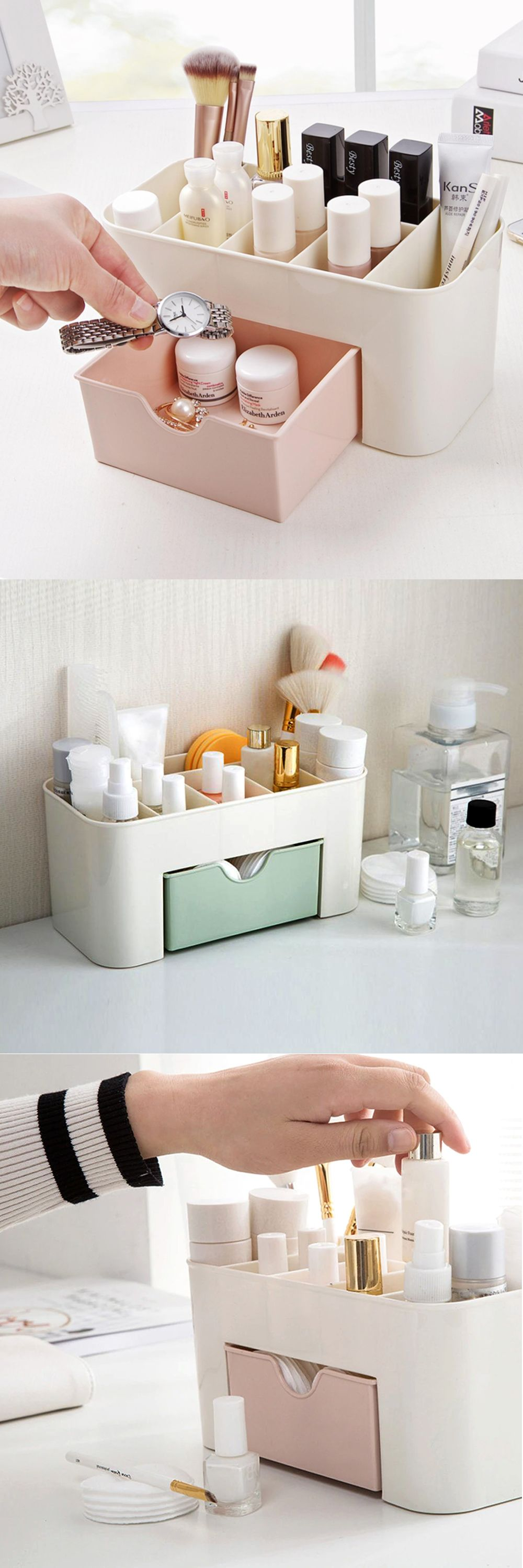 Organise your cosmetics, makeup brushes and other tools