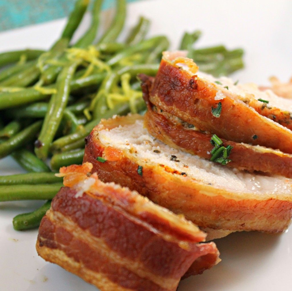 how to cook bacon wrapped pork tenderloin in oven