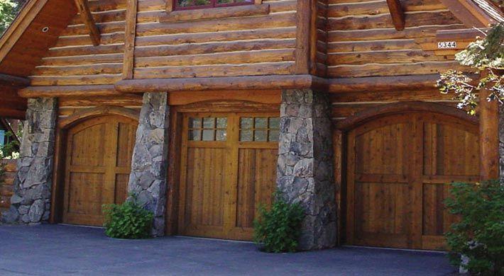 Middle One For Garage Door To Match Front Door Garage Doors Carriage House Garage Doors Cabin Homes