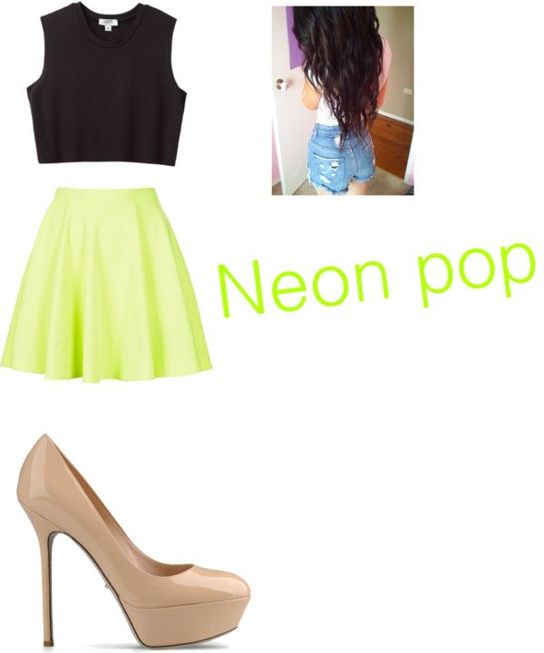 """""""Neon pop"""" by juanaf ❤ liked on Polyvore"""
