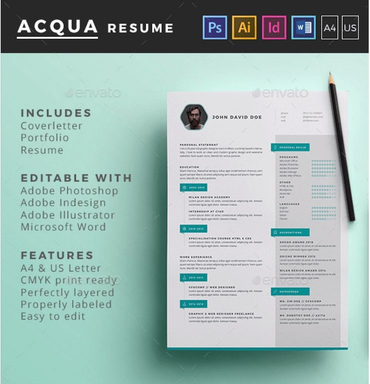 Best Free Resume Templates In Psd And Ai In 2019 Colorlib Ilustrator