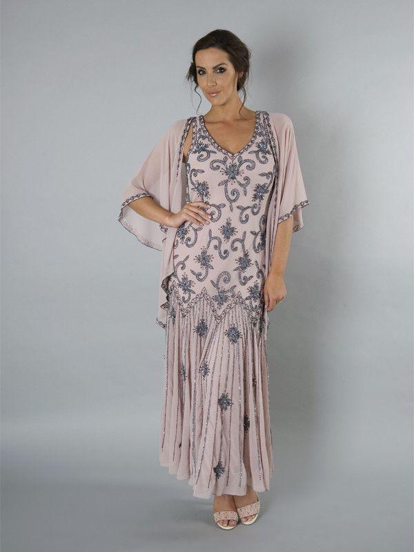 6a88258735cdf Powder Pink Gunmetal Georgette Dress from Chesca