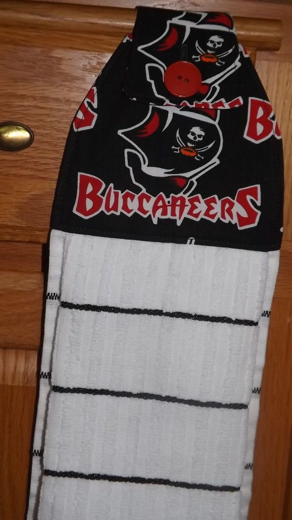 Tampa Bay Buccaneers Tea Towel By Kreationsgalore On Etsy Tea Towels Towel Cotton Fabric