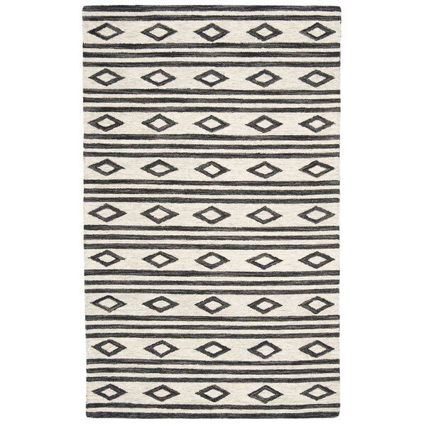 Vedika Hand-Tufted Wool Ivory/Charcoal Area Rug  You'll love the Vedika Hand-Tufted Wool Ivory/Charcoal Area Rug at Wayfair – Great Deals on all #area #HandTufted #IvoryCharcoal #Rug #Vedika #wool