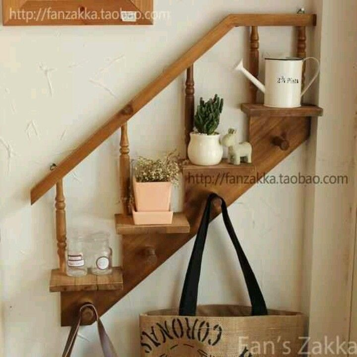 Stair Step Shelf Hooks Recycled Home Decor House Interior Decor Diy Furniture Projects