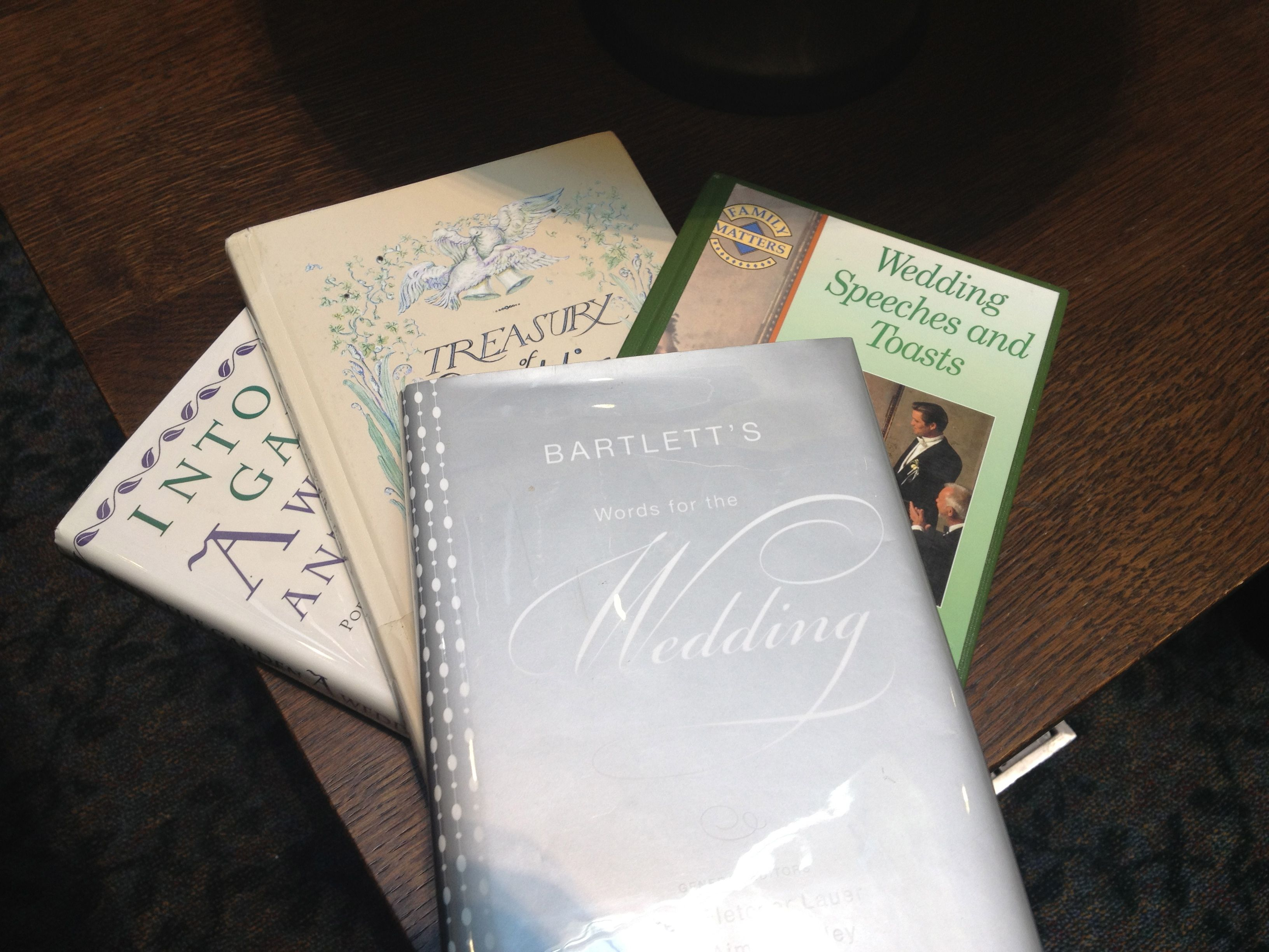 Library Books For Wedding Ceremony Reading Inspiration We Chose Three Including The Traditional