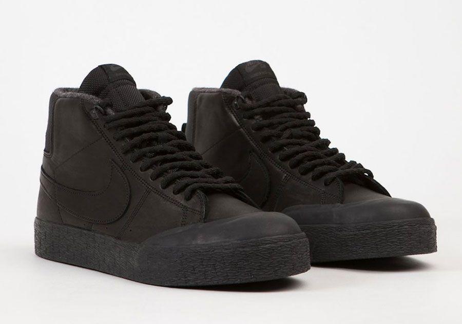 Nike SB Blazer Mid XT Goes Triple Black