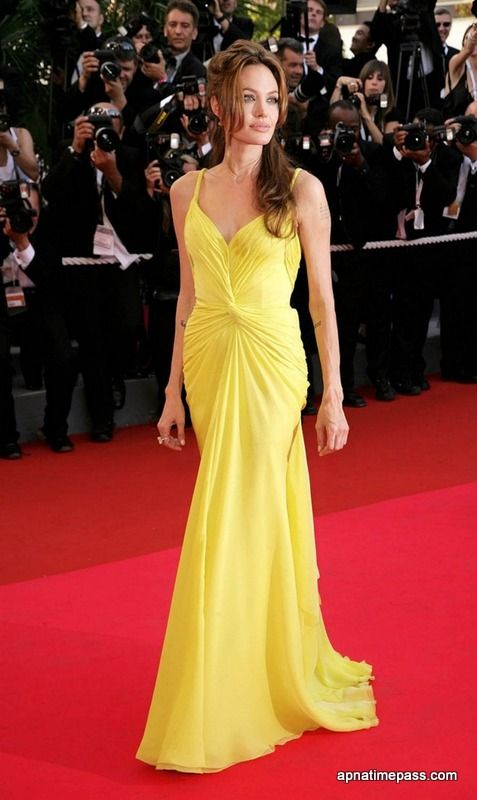 Angelina Jolie Yellow gown / Beauty and the Beast inspired Fashion ...