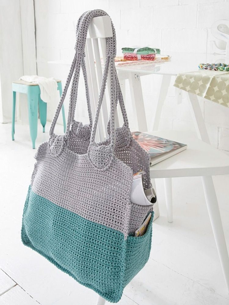 Diy Anleitung Einkaufstasche Häkeln Via Dawandacom Crochet