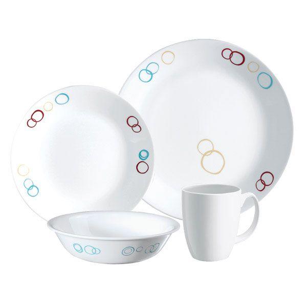 Corelle Livingware Circles 16 Pc Set Corelle Dinnerware Set