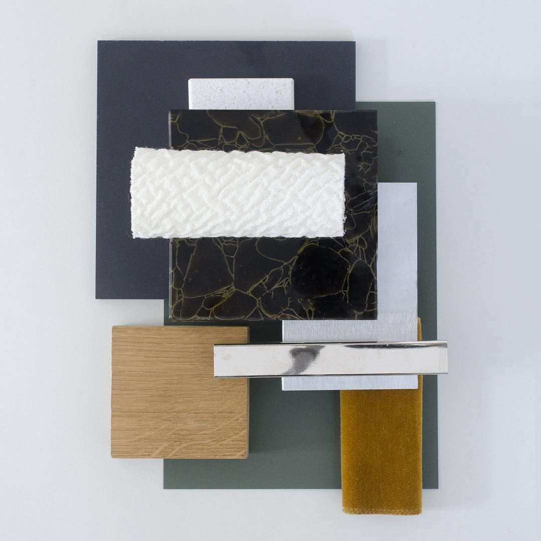 Material moodboard by studio david thulstrup oak by for A design and color salon little rock
