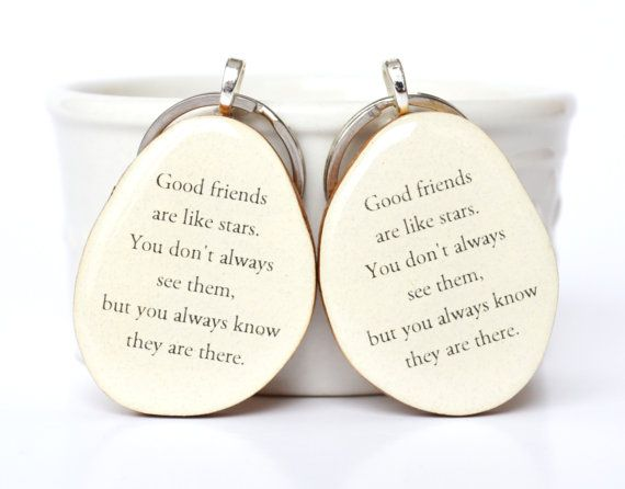 Best friend key chain set best friend gift sister gift gift under 50 going away gift bff key charm nature gift eco friendly