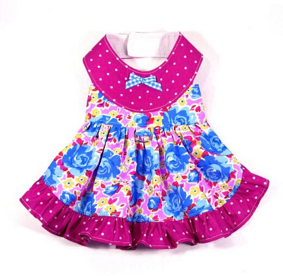 Watermelon Dog Dress Pattern -SMALL & MEDIUM- Dog Clothes Sewing ...