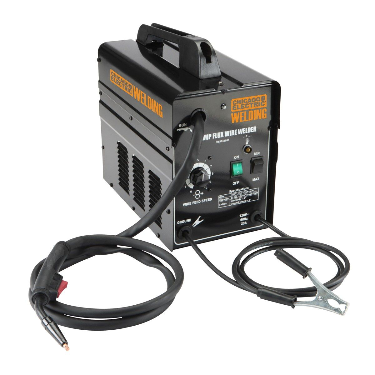 hight resolution of  89 99 chicago electric welding 68887 90 amp flux wire welder black 89 99 chicago electric