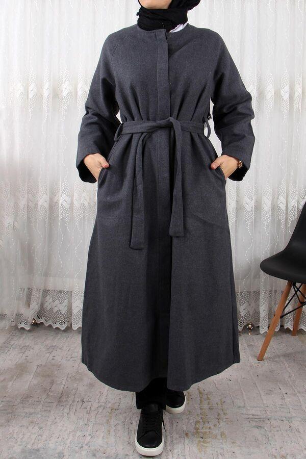 جاكيت رمادي غامق جوخ تسوق أون لاين حجاب مودانيسا أزياء محجبات ملابس محجبات فساتين جلباب عباية ملابس Muslim Women Clothing Abaya Dress Islamic Clothing
