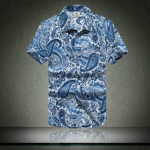 d4200f505 Fashion Mens Short Sleeve Hawaiian Shirt Fast drying Plus Size Asian Size M-5XL  Summer