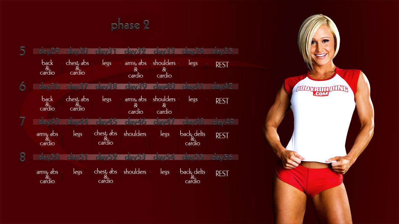 jamie eason 12week trainer phase 2 calendar created