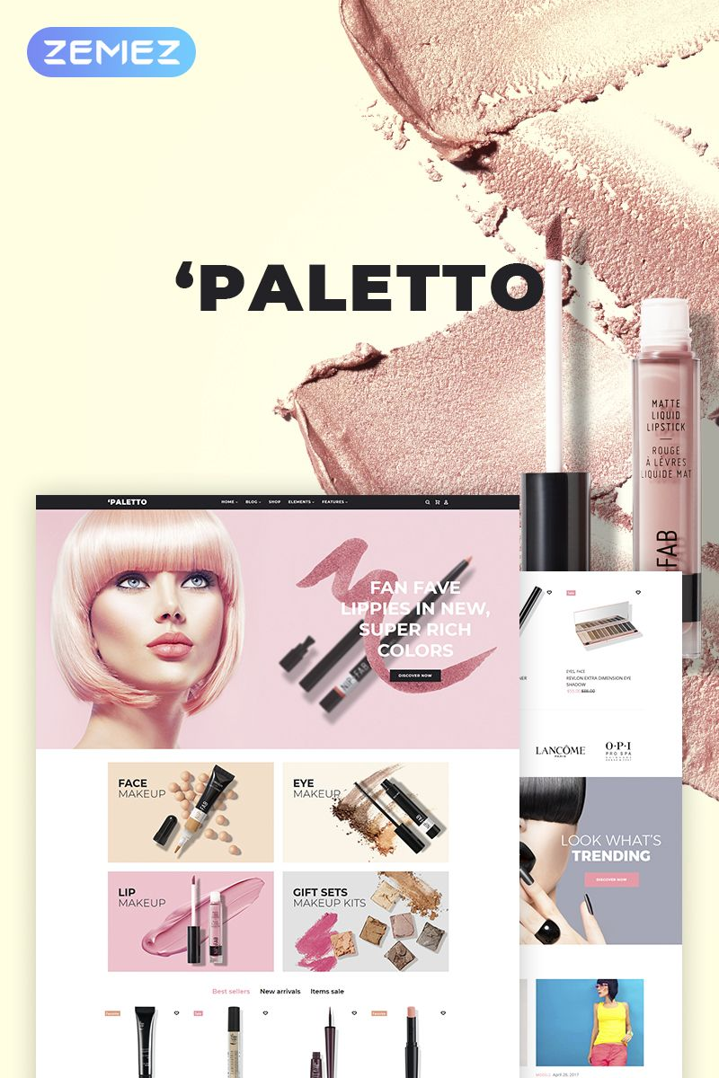 Paletto Cosmetic Store Elementor Theme