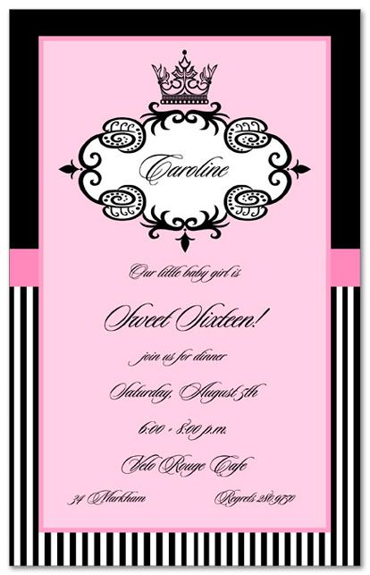 Ladies Birthday Invitations Divas Sweet 16 11940 – Sixteen Birthday Invitations