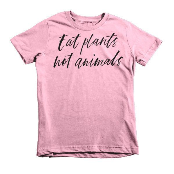 Eat Plants Not Animals Kids Tee