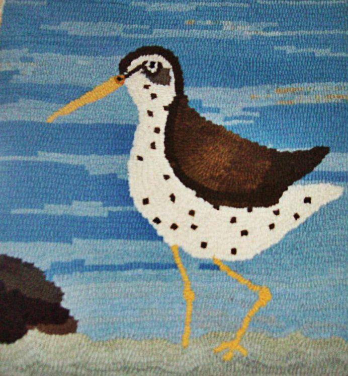 Camp Wool Shore Bird Hooking Hand Hooked Rugs Floor