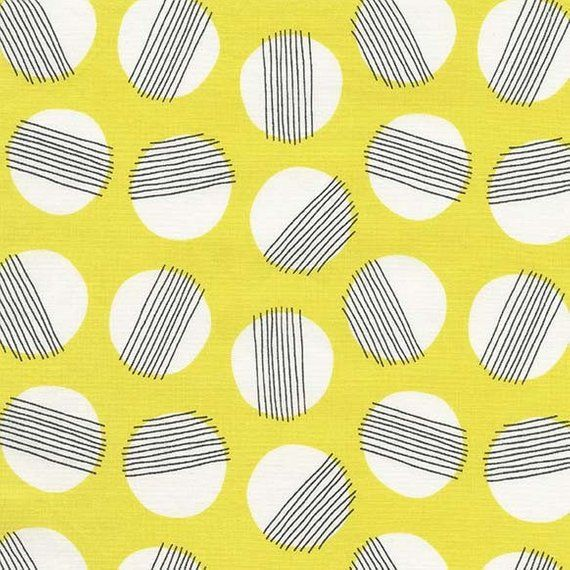 Yellow Circles Fabric - Everglades Fabric - Betsy Siber - Michael Miller - Moon Fabric - Geometric Fabric - Sold by the Yard